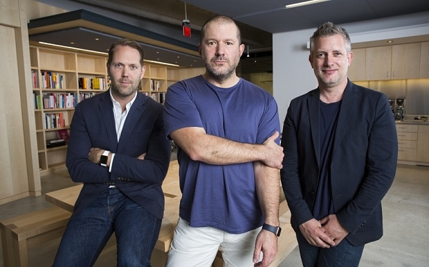 Apple's New Design Leadership: Vice president of User Interface Design, Alan Dye; Chief Design Officer,  Jony Ive; and Vice President of Industrial Design, Richard Howarth