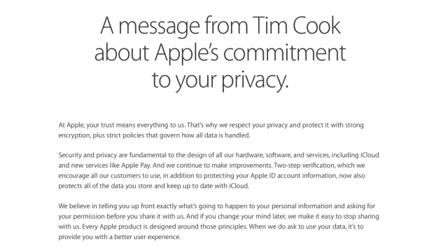 Tim Cook's letter to Apple users regarding Apple's stance on Privacy. Its really a nice personal touch. Its human.