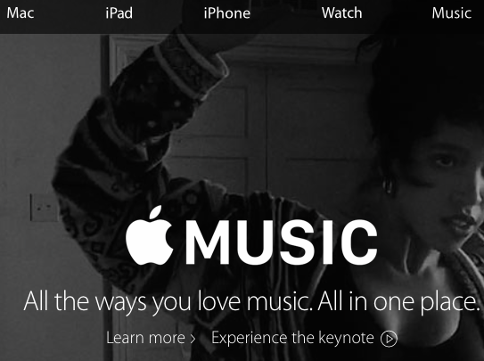 Music is a product on the level with the rest of Apple's line up.